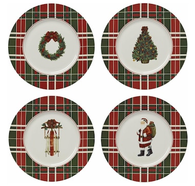 Lenox Vintage Plaid Accent Plates (Set of 4)