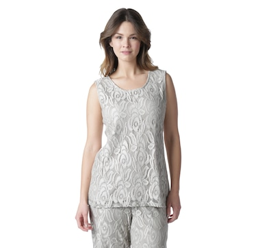 Guillaume Home Lace Overlay and Luxe Jersey Top