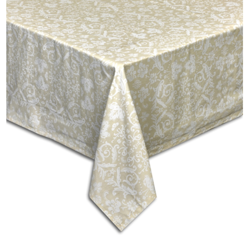 Image 551856_OAM.jpg , Product 551-856 / Price $16.33 - $24.33 , Debbie Travis Cotton Stain-Resistant Damask Print Tablecloth from Debbie Travis on TSC.ca's Kitchen department