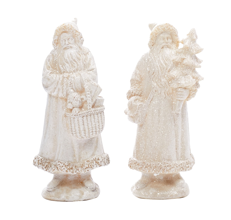 Image 551903.jpg , Product 551-903 / Price $19.00 , Holiday Memories Shimmering Country Estate Santas (Set of 2) from Holiday Memories on TSC.ca's Home & Garden department