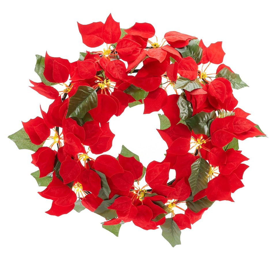 Image 551920.jpg , Product 551-920 / Price $20.00 , Holiday Memories Indoor Poinsettia Wreath from Holiday Memories on TSC.ca's Home & Garden department