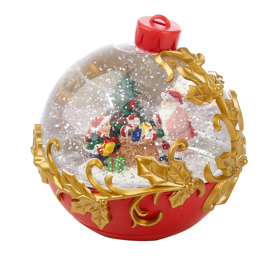 """Image 551924.jpg , Product 551-924 / Price $35.00 , Holiday Memories 6.5"""" LED Santa in Ornament Water Globe from Holiday Memories on TSC.ca's Home & Garden department"""