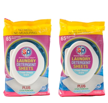 S20 Laundry Sheets 2-Pack (65 Sheets per Pack)