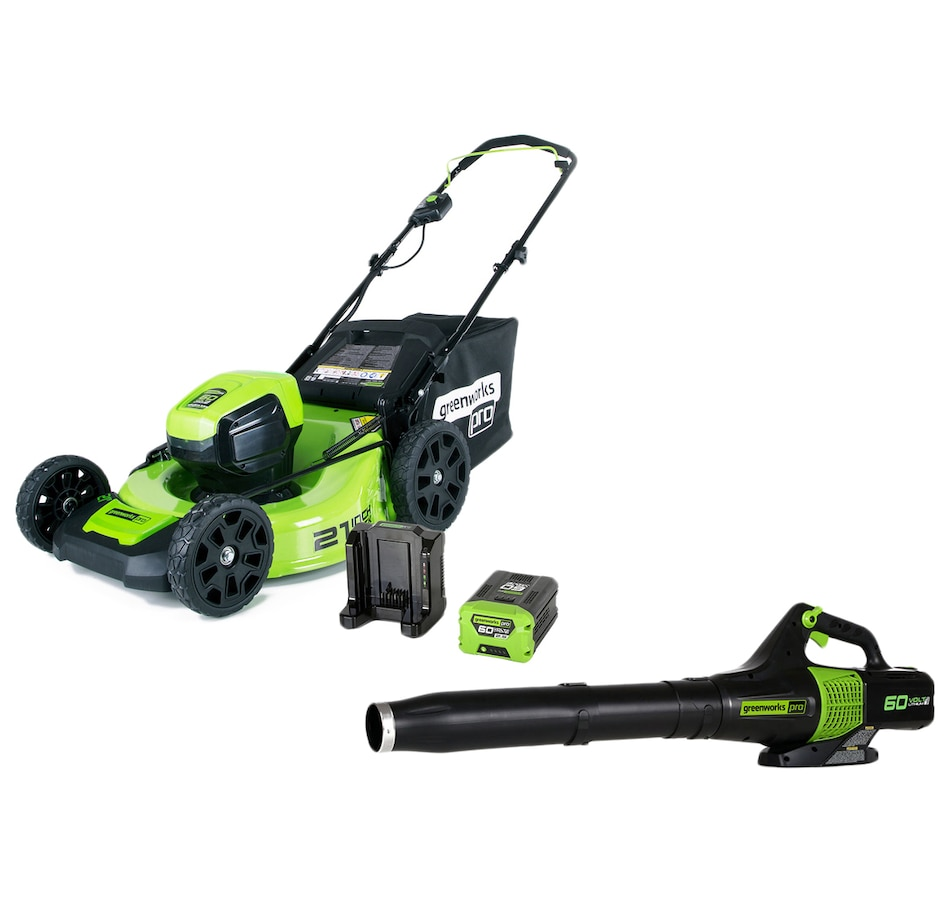 """Image 552064.jpg , Product 552-064 / Price $898.98 , Greenworks 60V 21"""" Mower/Axial Blower Combo from Greenworks on TSC.ca's Home & Garden department"""