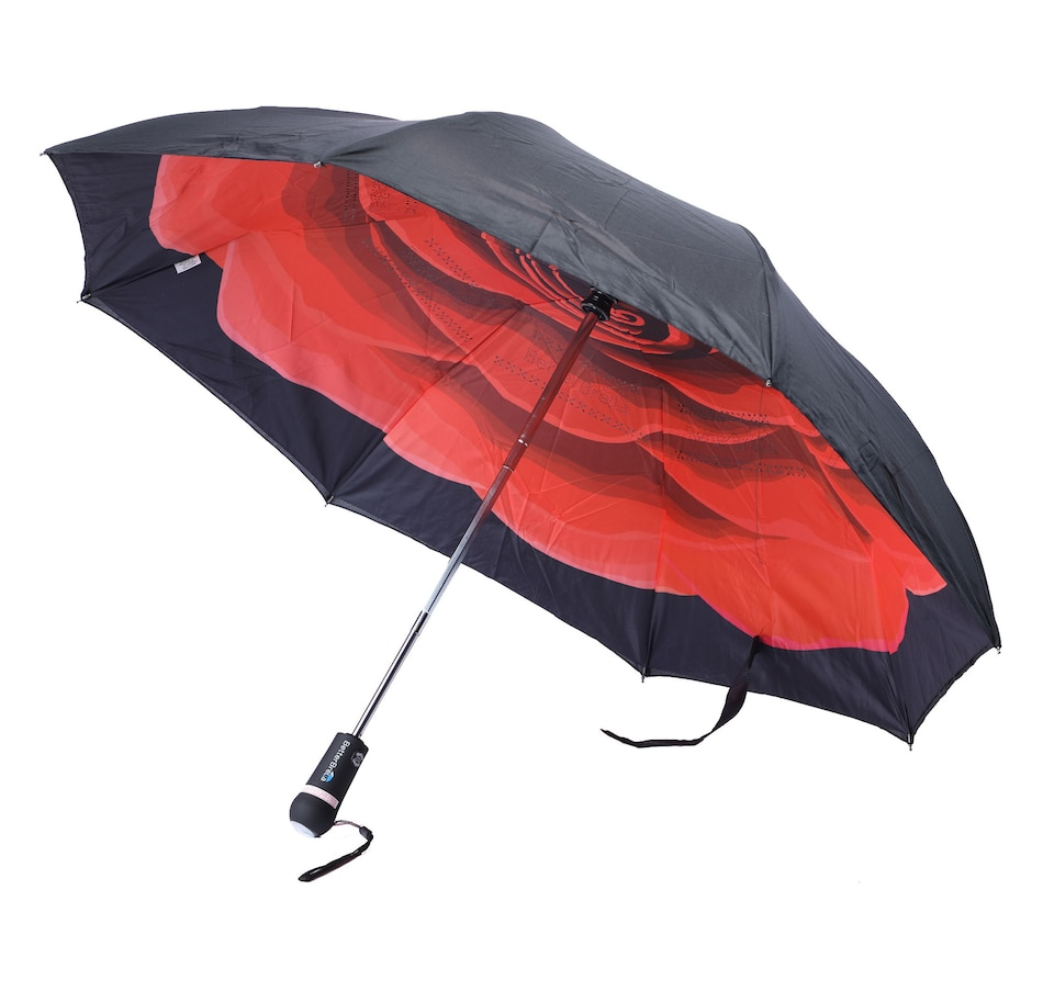 "Image 552100_RSE.jpg , Product 552-100 / Price $44.95 , Betterbrella Compact Automatic Flashlight Umbrella with New ""Stay Dry"" Fabric and UV Protection from Betterbrella on TSC.ca's Fashion department"