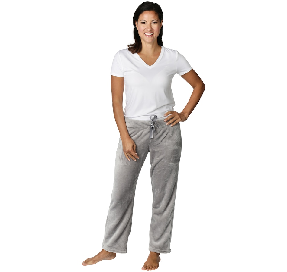 Image 552142_CHR.jpg , Product 552-142 / Price $13.88 , Dream Haven Comfy Microplush Elastic Waist Wide-Leg Pants with Drawstring Waist from Dream Haven on TSC.ca's Fashion department