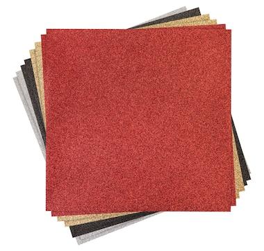 "Cricut Glitter Iron-On Classic Pack 12"" x 12"" (8 Sheets)"