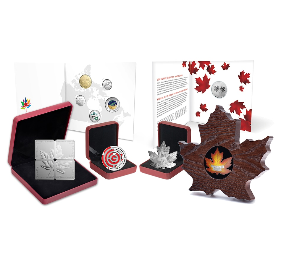 Image 552697.jpg , Product 552-697 / Price $614.70 , Canada's Maple Leaf Fine Silver Coin Collection from Royal Canadian Mint on TSC.ca's Coin department