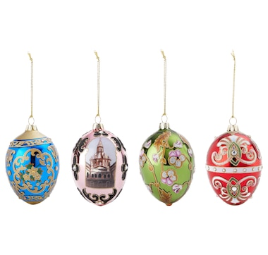 Joan Rivers Classics Collection 2018 Set of 4 Russian Inspired Egg Ornaments