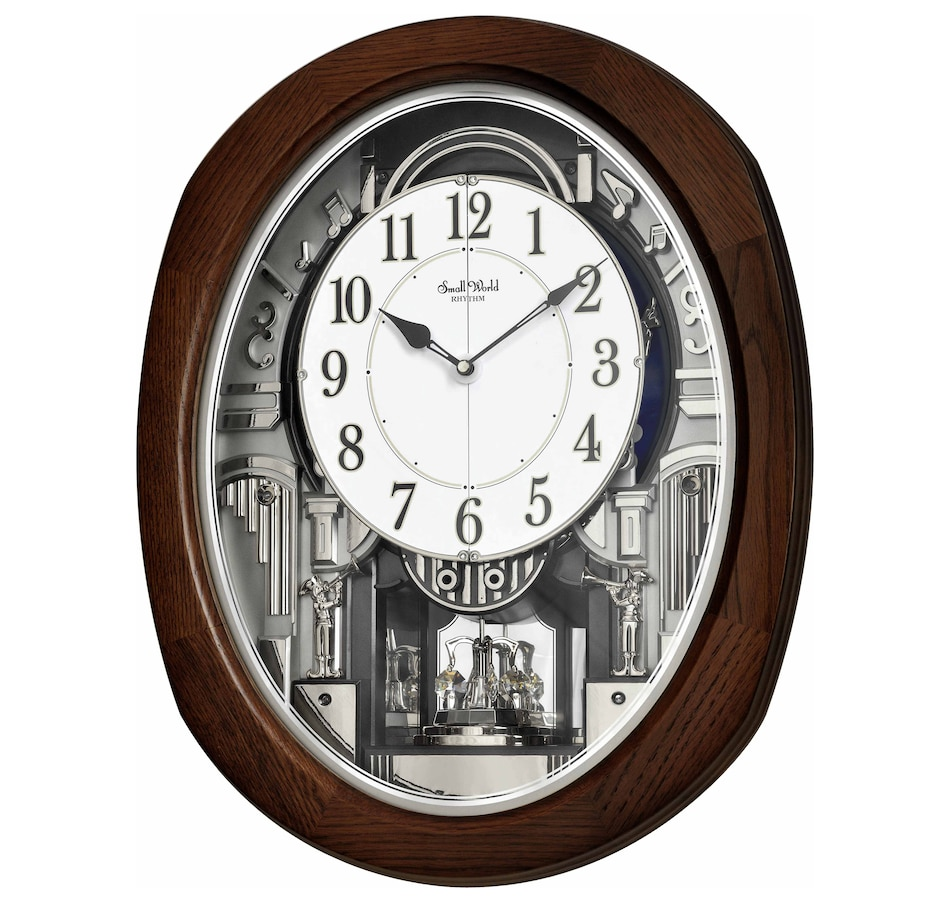 Image 552844.jpg , Product 552-844 / Price $399.88 , Rhythm Musical Motion Clock - Blessings Series Espresso from Rhythm on TSC.ca's Home & Garden department