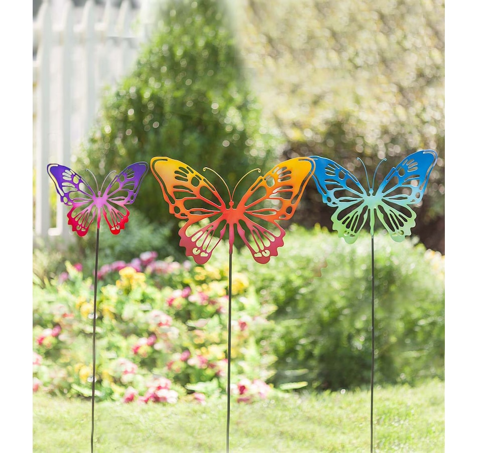 Image 552849.jpg , Product 552-849 / Price $49.88 , Butterfly Stakes (Set of 3) from Plow & Hearth on TSC.ca's Home & Garden department