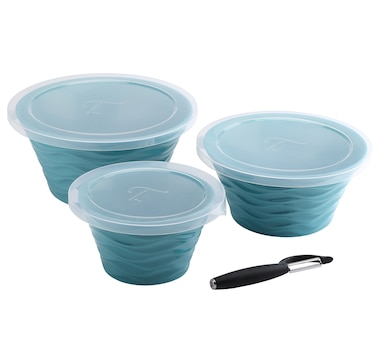 Wavelength by temp-tations Nesting 1-2-3 Bowls with Peeler