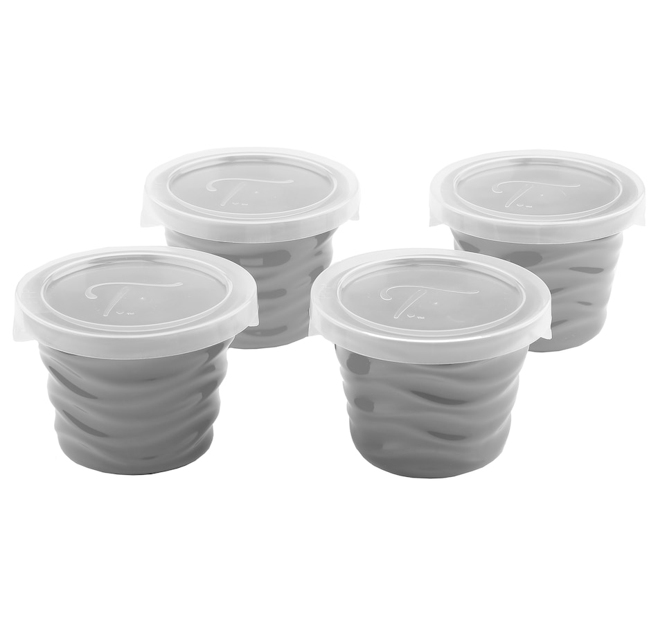 Image 552914_GRY.jpg , Product 552-914 / Price $19.88 , Wavelength by temp-tations Double-Date 8 oz Ramekins - Set of 4 from Temp-tations on TSC.ca's Kitchen department