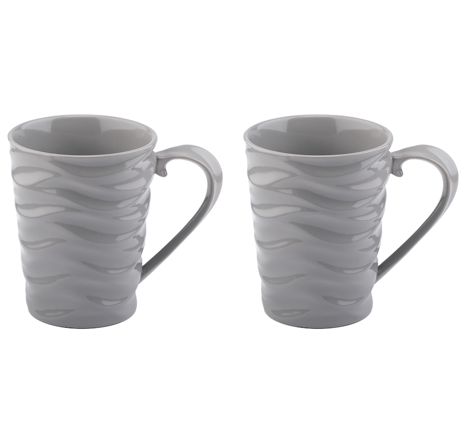Image 552915_GRY.jpg , Product 552-915 / Price $21.88 , Wavelength by temp-tations Mugs (Set of 2) from temp-tations on TSC.ca's Kitchen department