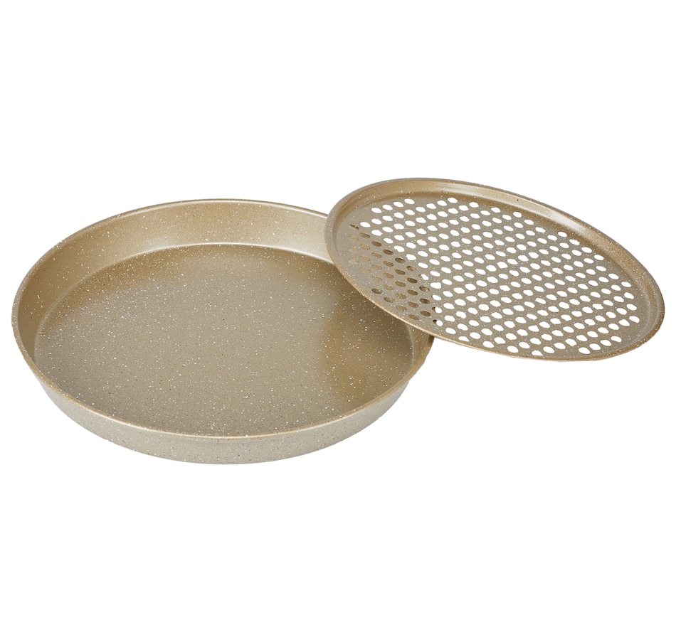 Image 552934_GLD.jpg , Product 552-934 / Price $39.99 , Curtis Stone Dura-Bake 2-Piece Pizza Pan Set from Curtis Stone on TSC.ca's Kitchen department