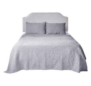 HomeSuite Essentials 100% Cotton Vintage Stonewash Quilt Set