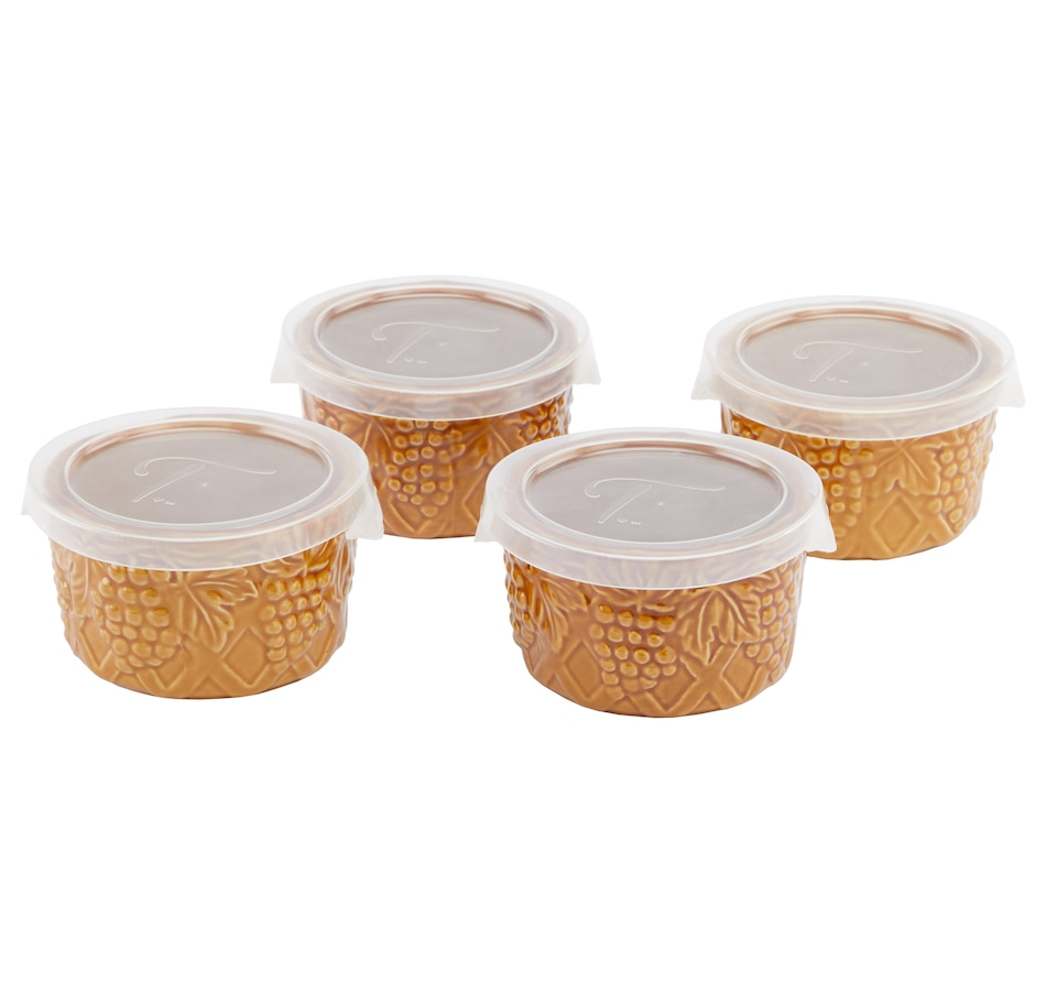 Image 552978_AMB.jpg , Product 552-978 / Price $19.88 , Dee-vine by temp-tations Double Date 8 oz. Ramekins - Set of 4 from Temp-tations on TSC.ca's Kitchen department