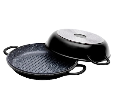 Curtis Stone Cast Aluminum Multi-Function Pan with Grill Lid