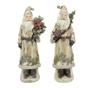 "Holiday Memories 13""  Woodland Santa - Set of 2"