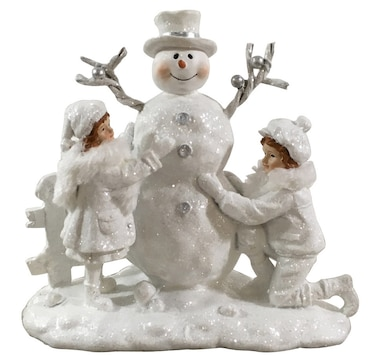 """Holiday Memories 9"""" Frosted Snowman"""