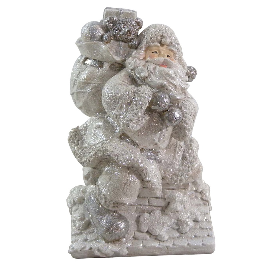 "Image 553126.jpg , Product 553-126 / Price $19.99 , Holiday Memories 8.5""  Frosted Roof Top Santa from Holiday Memories on TSC.ca's Home & Garden department"