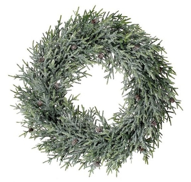 """Holiday Memories 26"""" Frosted Mini Fir Wreath"""