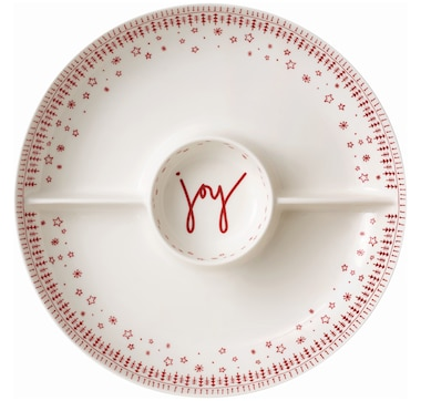 Ellen DeGeneres Crafted by Royal Doulton Holiday 3-Section Divider Dish