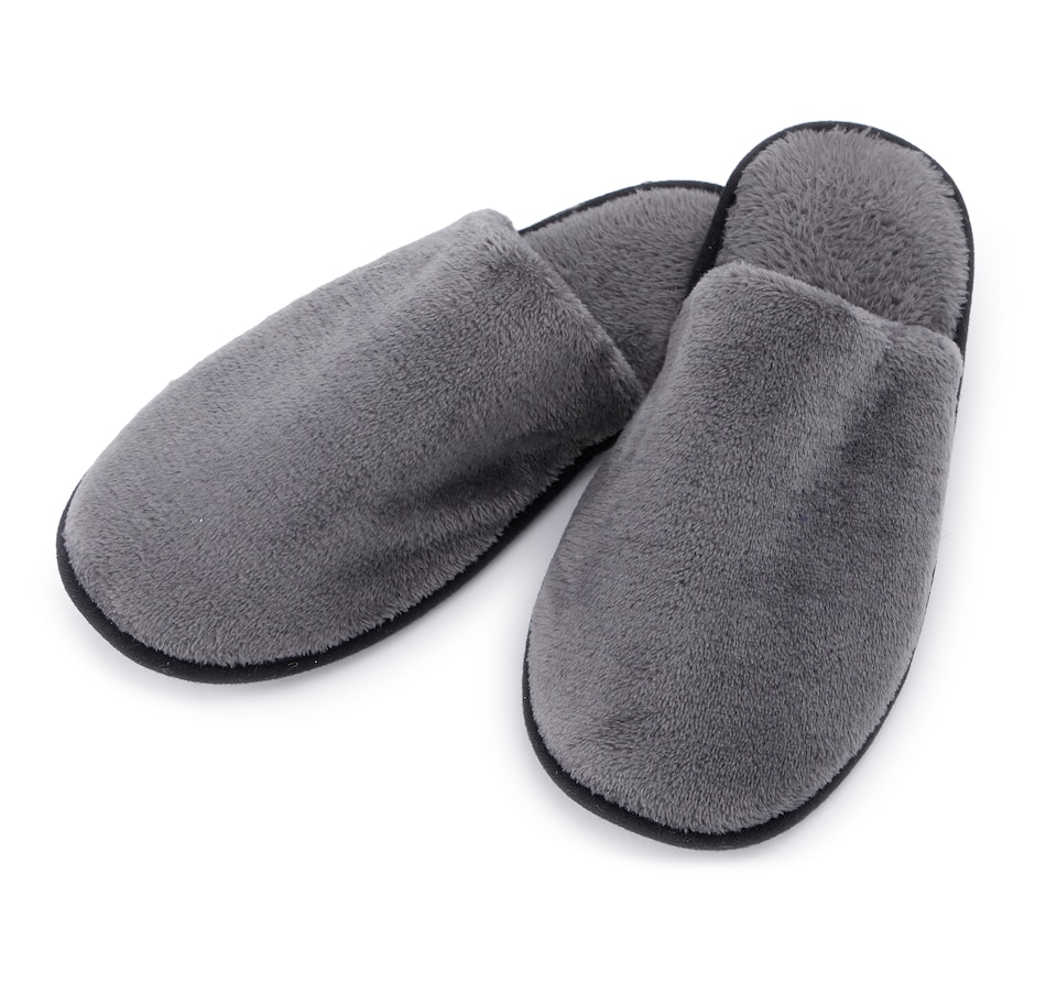 Image 553240_CHR.jpg , Product 553-240 / Price $34.99 , Guillaume Men's Micro Mink Slippers from Guillaume Home on TSC.ca's Shoes & Handbags department