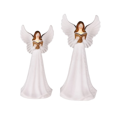 Mr. Christmas Set of 2 Porcelain Guiding Light Angels