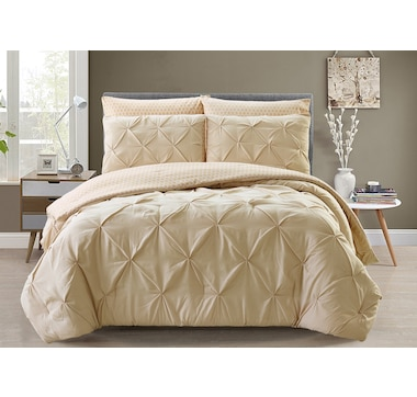 St. Clair Pintuck Reversible Comforter 3-Piece Set