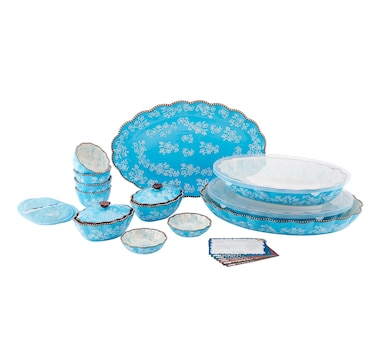 temp-tations 16-Piece Ruffled Edge Bake and Serve Set