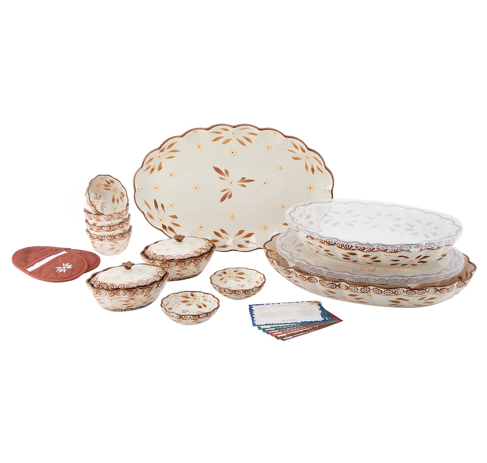 Image 553310_OWCHO.jpg , Product 553-310 / Price $88.33 , temp-tations 16-Piece Ruffled Edge Bake and Serve Set from Temp-tations on TSC.ca's Kitchen department