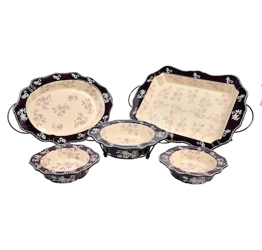 temp-tations 8-Piece Framed Edge Baker Set