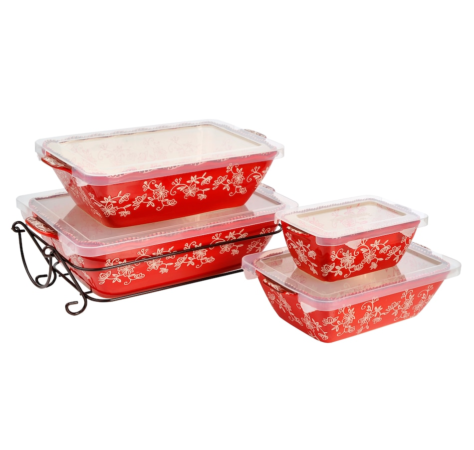Image 553313_FLRED.jpg , Product 553-313 / Price $69.99 , temp-tations Nested Bakers - Set of 4 from temp-tations on TSC.ca's Kitchen department