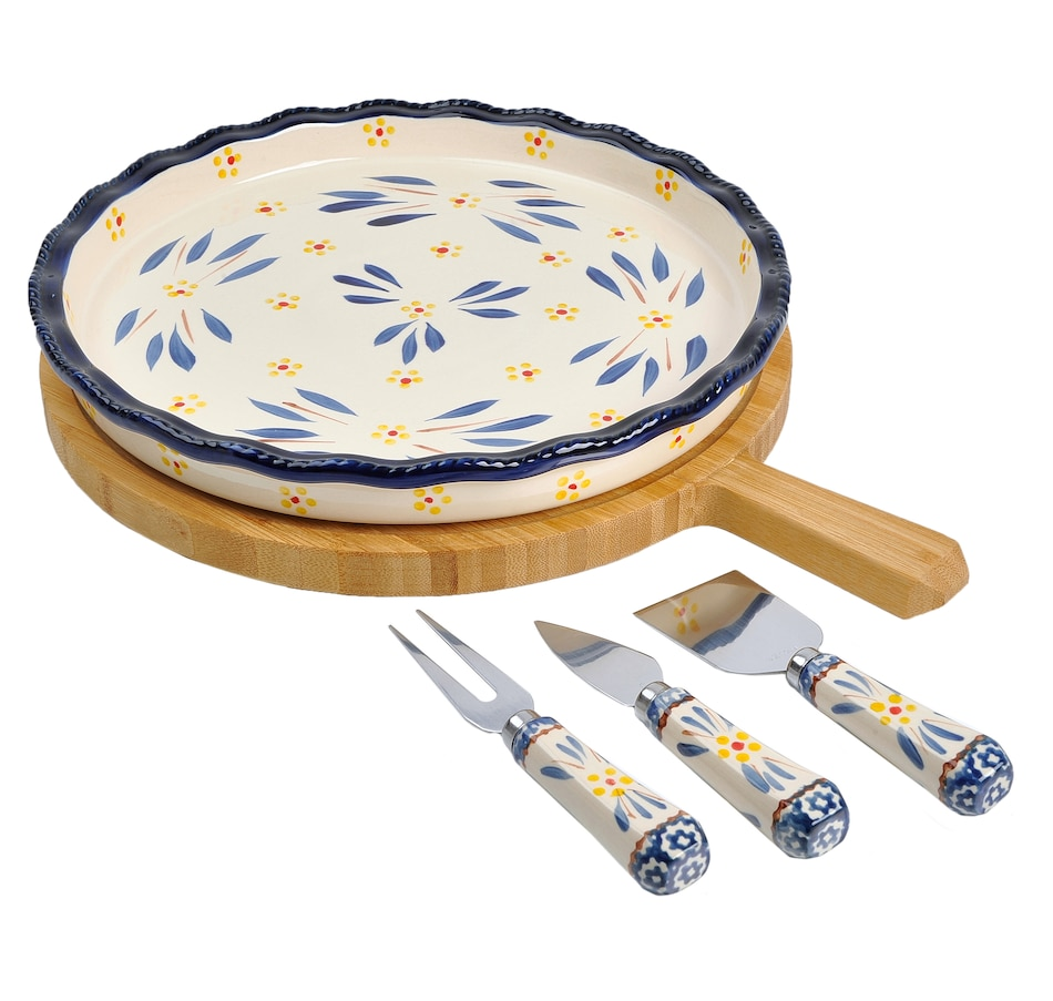 Image 553314_OWBLU.jpg , Product 553-314 / Price $64.99 , temp-tations 5-Piece Cheeseboard Set from temp-tations on TSC.ca's Kitchen department