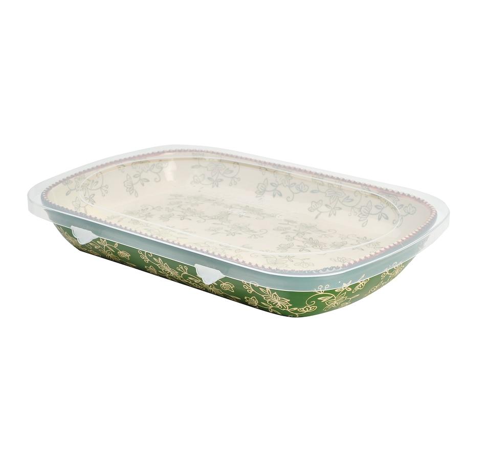Image 553318_FLGRN.jpg , Product 553-318 / Price $26.88 , temp-tations Deep Dish Platter from Temp-tations on TSC.ca's Kitchen department