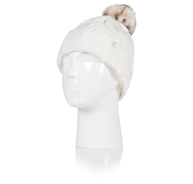 Ladies Cable Pom Pom Hat