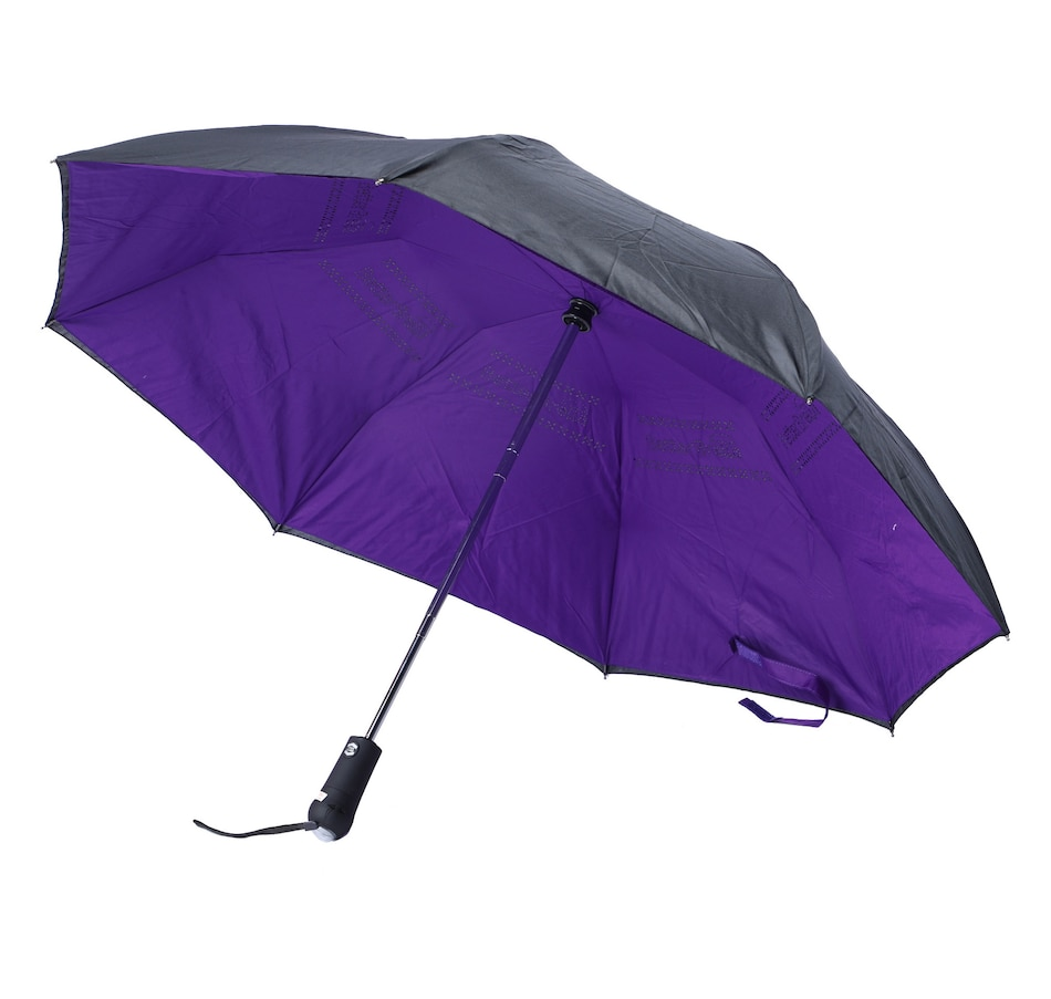 Image 553529_PUR.jpg , Product 553-529 / Price $18.33 , Betterbrella Compact Umbrella with Flashlight from Betterbrella on TSC.ca's Home & Garden department