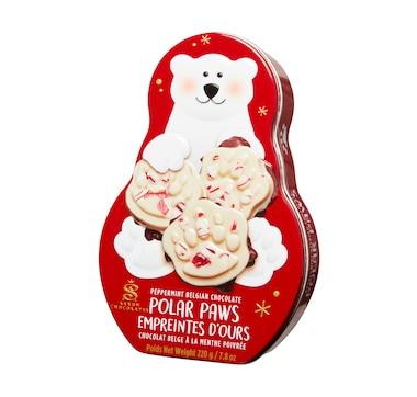 Saxon Chocolate Peppermint Polar Paw Tin