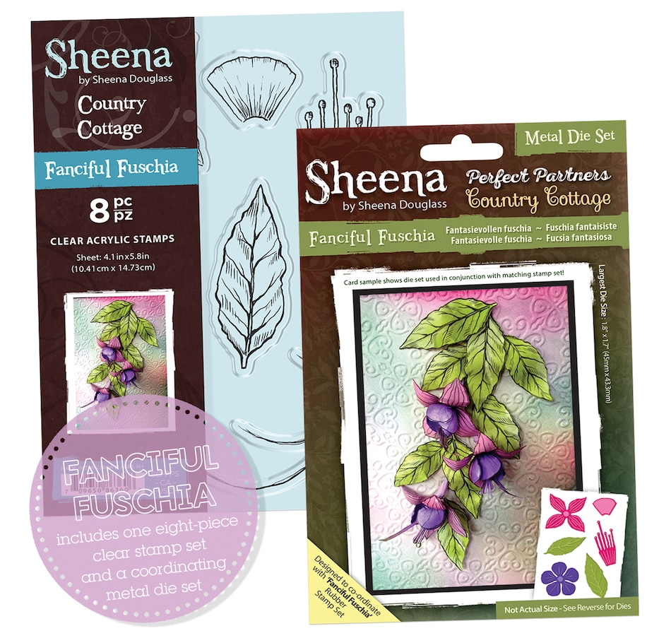 Image 553666_FUS.jpg , Product 553-666 / Price $16.88 , Crafter's Companion Sheena Perfect Partners Dies and Stamp Set from Crafter's Companion on TSC.ca's Home & Garden department