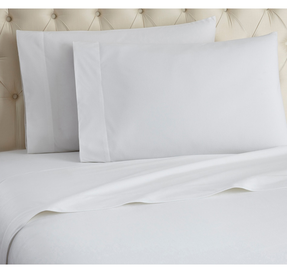 Image 553693_WHT.jpg , Product 553-693 / Price $69.99 - $119.99 , HomeSuite Micro Flannel 4-Piece Sheet Set from HomeSuite Collection on TSC.ca's Home & Garden department