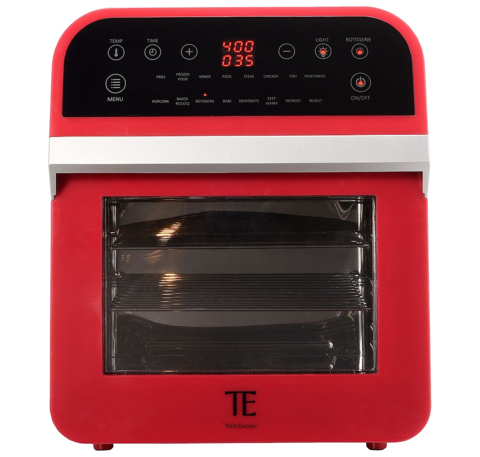 Image 553779_RED.jpg , Product 553-779 / Price $169.88 , Todd English 12.7-Quart Multi-Function Digital Air Fryer Oven with Accessories from Todd English on TSC.ca's Kitchen department