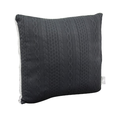 Lauren Holly Embossed Cable-Knit Decor Cushion