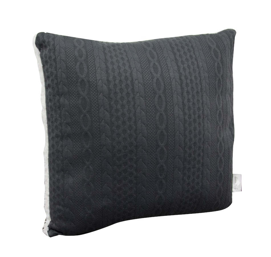 Image 554004_GRY.jpg , Product 554-004 / Price $11.88 , Lauren Holly Embossed Cable-Knit Decor Cushion from Lauren Holly Collection on TSC.ca's Home & Garden department