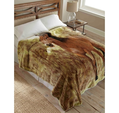 Shavel Home High Pile Nature Throw/Coverlet 90x90