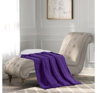 St. Clair Chevron Plush Throw