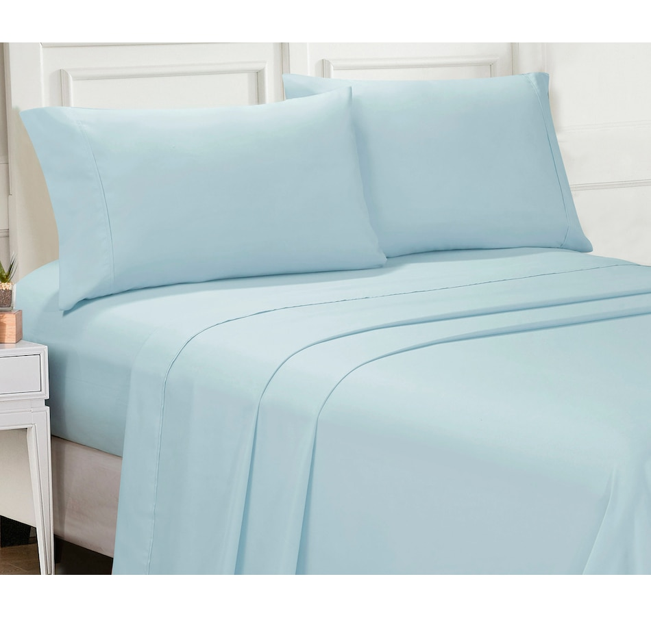 Image 554020_AQA.jpg , Product 554-020 / Price $39.99 - $59.99 , Ellen Tracy Supreme Smooth 4-Piece Sheet Set from Ellen Tracy on TSC.ca's Home & Garden department
