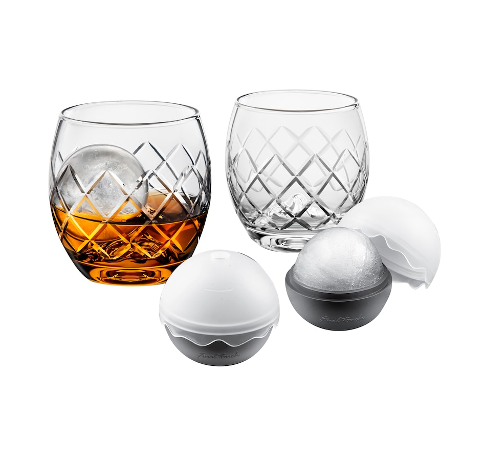 Image 554033.jpg , Product 554-033 / Price $74.99 , Final Touch Hand-Etched 5-Piece On The Rock Glass Set from Final Touch on TSC.ca's Kitchen department