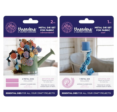 Crafter's Companion Threaders Flower Fabric Dies