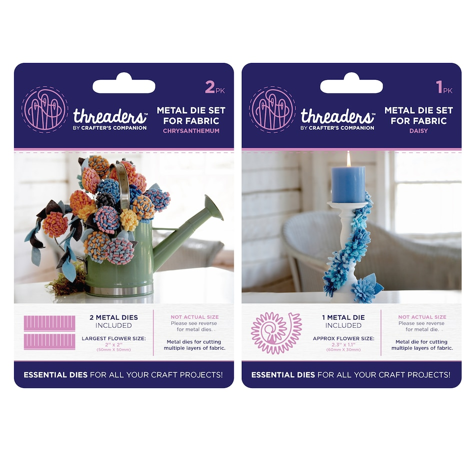 Image 554074_CYS.jpg , Product 554-074 / Price $9.33 , Crafter's Companion Threaders Flower Fabric Dies from Crafter's Companion on TSC.ca's Home & Garden department